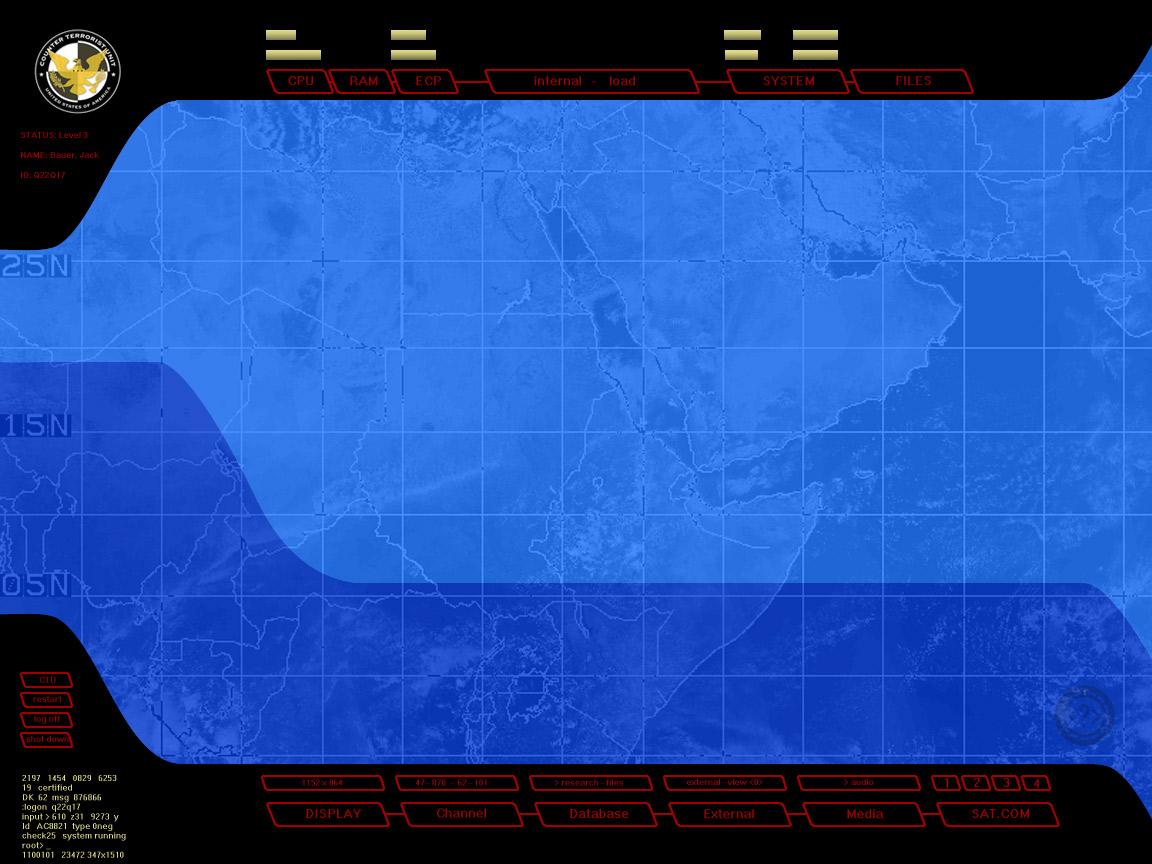 海外ドラマ 24 Twenty Four Ctuが使用しているパソコンの壁紙