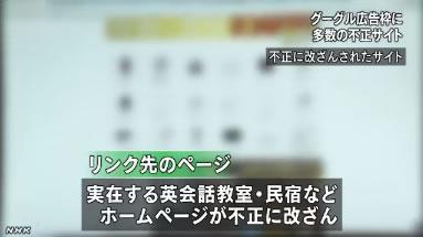 NHK ニュース Google AdWords 不正リンク