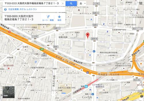 大阪・福島 天地人 地図