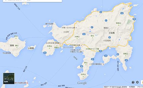 小豆島の地図