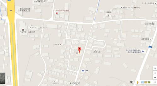 うどんの田(でん) 地図