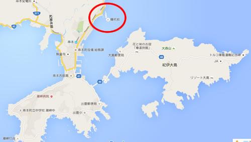 橋杭岩(はしぐいいわ) 地図