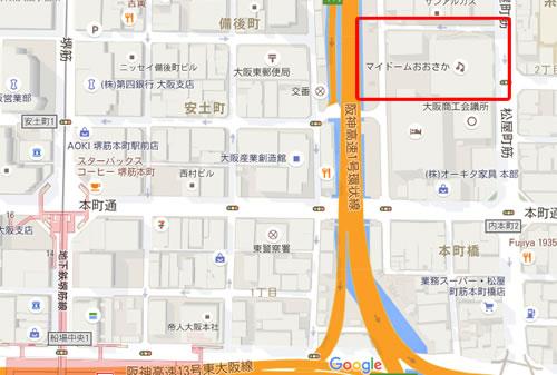 マイドームおおさか 地図