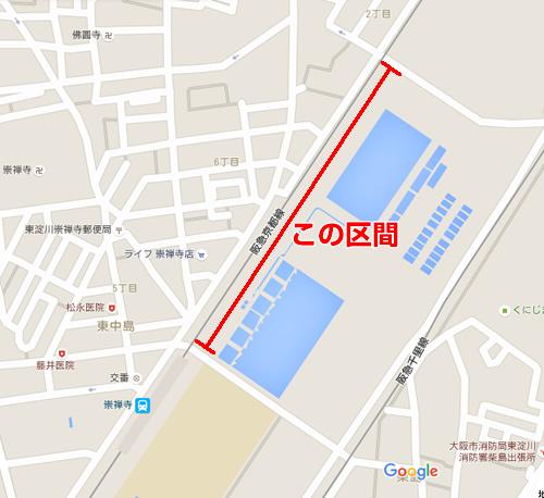 柴島浄水場 桜の通り抜け 地図
