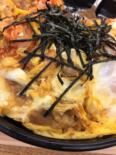 松屋 キムチ牛とじ丼