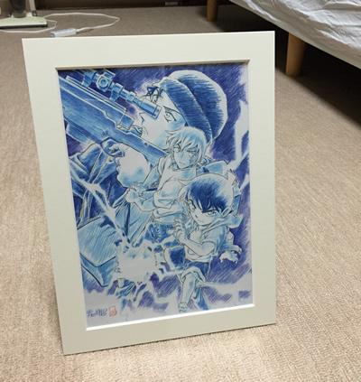 赤井×安室額装ミニ複製原画